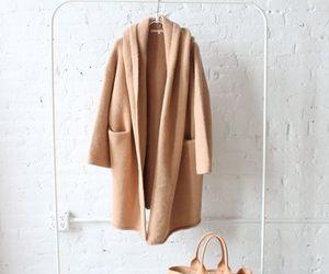 coat, fashion, and tan image