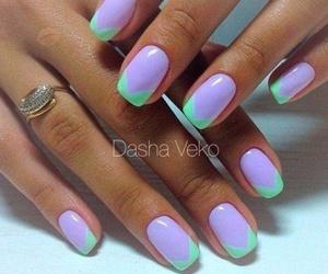 nails, polish, and vivid image