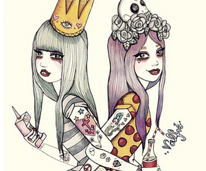 girl, valfre, and art image