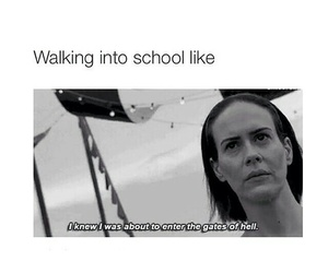 school, ahs, and funny image