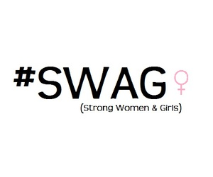 swag, strong, and girl image