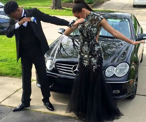 black, Prom, and relashionship image