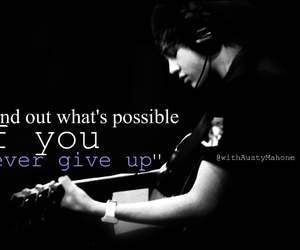 belive, black and white, and austin mahone image