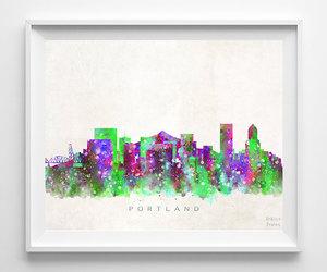 art print, cityscape, and wall art image