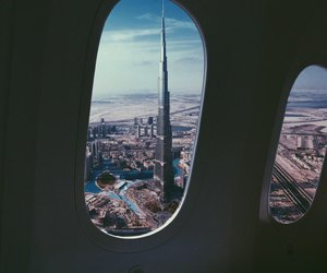 Dubai, travel, and airplane image
