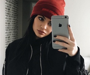 kylie jenner, iphone, and black image