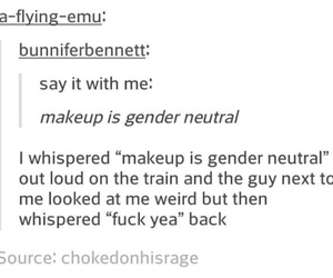 feminism, funny, and text post image