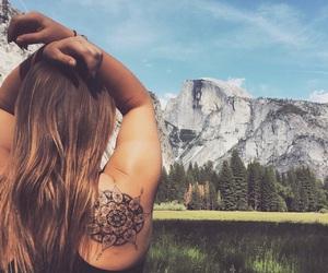 girl, mandala, and summer image