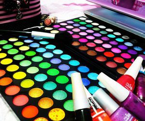 make up, makeup, and colorful image