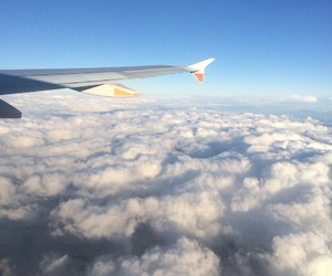 clouds, fly, and plane image