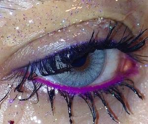 eyes, purple, and aesthetic image