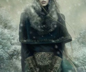 snow, warrior, and woman image