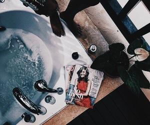 bath, magazine, and theme image
