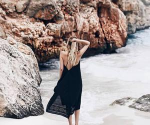 beach, seaside, and dress image