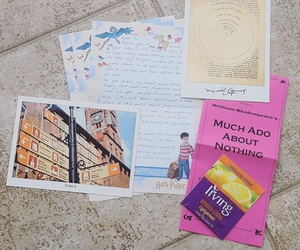 letters, penpal, and postcard image