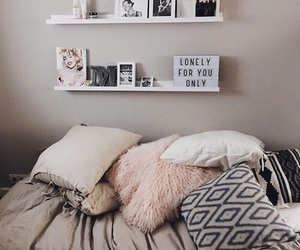 beds, pillows, and bedroom goals image