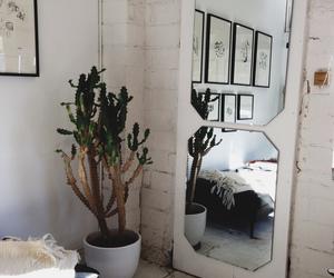 interior, white, and mirror image