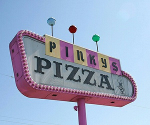 pizza, pink, and retro image