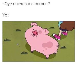 funny, pig, and gravity falls image
