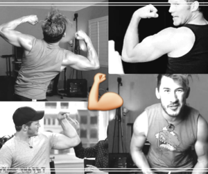 dorks, handsome, and muscles image
