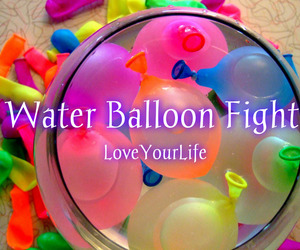 summer, water balloon, and water balloon fight image
