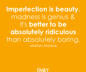 beauty, imperfection, and Marilyn Monroe image