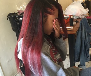 hair, red, and weave image