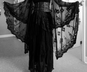 black, lace, and mystic image
