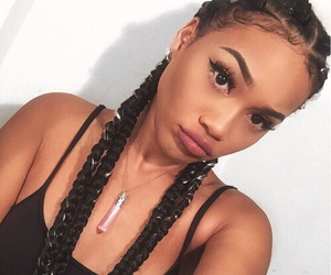 braids and girl image