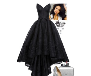 black, Polyvore, and black dress image