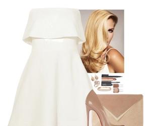 beige, dress, and heel image