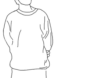 art, outlines, and louis tomlinson image