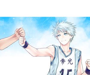 kuroko no basket, kuroko, and aomine image