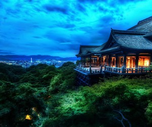 japan, nature, and house image