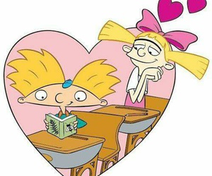 hey arnold, arnold, and love image