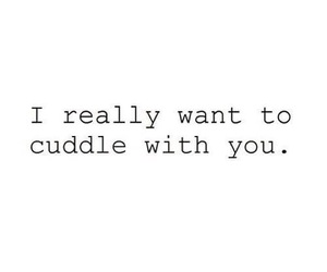 love, cuddle, and quote image