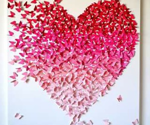 butterfly, pink, and love image