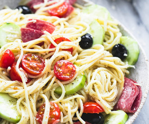 pasta, italian, and salad image