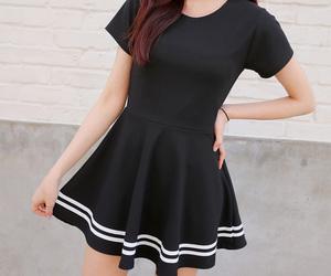 asian fashion, fashion, and black image
