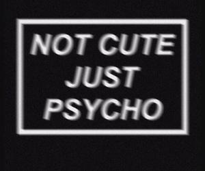 Psycho, black, and wallpaper image