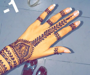 broken, hand, and henna image