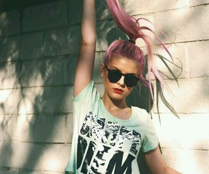 girls, hair, and pink image