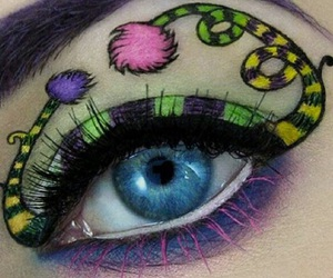 eye shadow, impression, and make up image