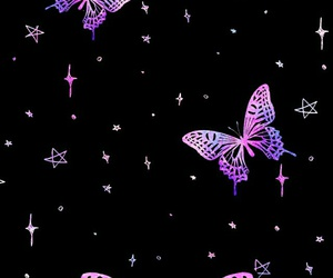 glitter, lila, and mariposas image