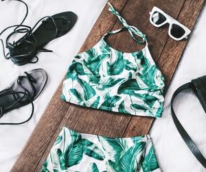 bikini, sunnies, and swimsuit image