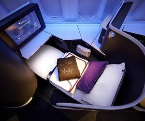 flight, plane, and business class image