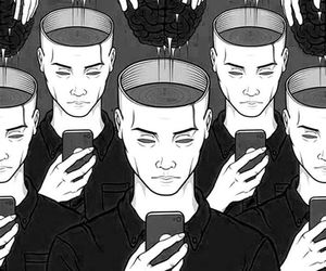 brain, phone, and people image