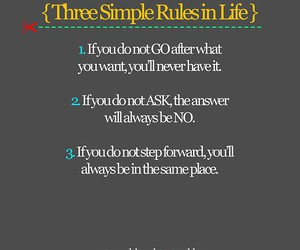 rules, life, and quote image