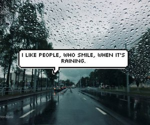 rain, quotes, and smile image