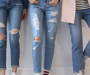 jeans, fashion, and tumblr image